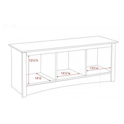 Prepac Sonoma Storage Bedroom Bench