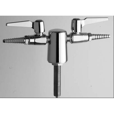Chicago Faucets Turret with Two Ball Valves At 180º and Double Lever Handle