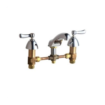 Widespread Bathroom Faucet with Double Lever Handles by Chicago Faucets