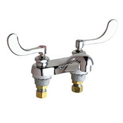 Centerset Bathroom Faucet with Double Wrist Blade Handles by Chicago Faucets