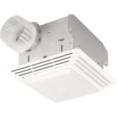 broan 70 cfm bathroom exhaust fan with light reviews wayfair. Black Bedroom Furniture Sets. Home Design Ideas