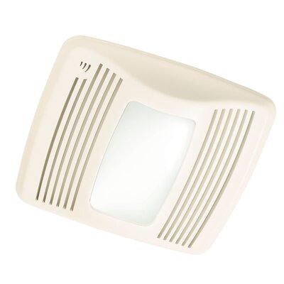 Ultra Silent 110 CFM Humidity Sensing Exhaust Bathroom Fan with Light by Broan