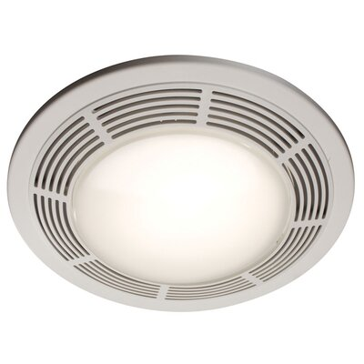 Broan Round 100 Cfm Exhaust Bathroom Fan With Light And Night Light Reviews Wayfair