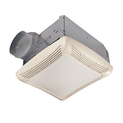 Broan Ceiling Mount 70 CFM Exhaust Bathroom Fan with Light