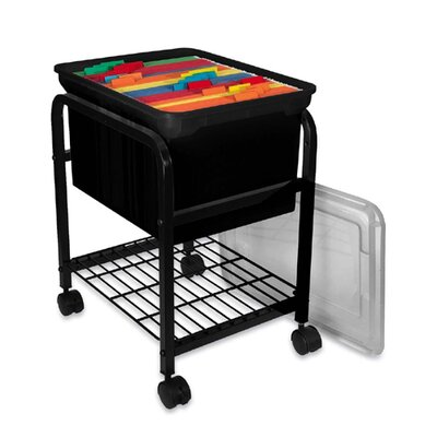 Innovative Storage Design Hanging File Cart with Clear Lid