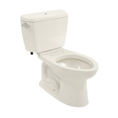 Toto Drake 1.6 GPF Elongated 2 Piece Toilet with Bolt Down Lid with E-Max Flush