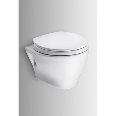 Aquia Wall Hung 0.9 GPF / 1.6 GPF Elongated 2 Piece Toilet with Copper Supply Line Product Photo