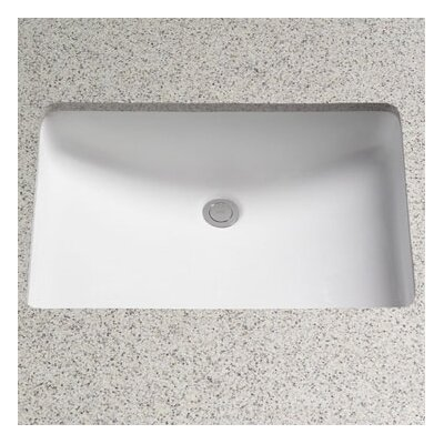 Rimless Undermount Bathroom Sink with SanaGloss Glazing Product Photo