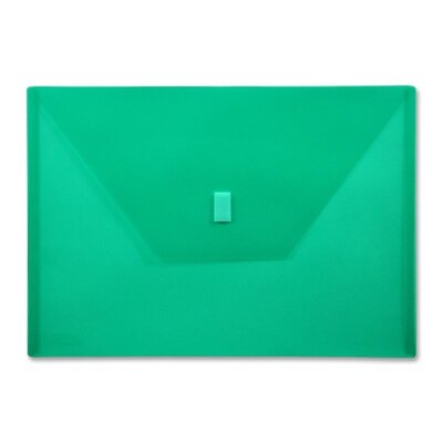 """Lion Office Products Poly Envelope,Hook and Loop Closure,13""""x9-3/8"""",./Green"""