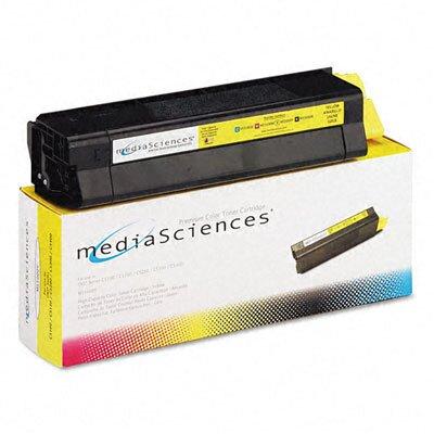Media Sciences MS5000Y (42127401) Toner Cartridge, High-Yield, Yellow