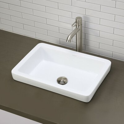 Classically Redefined Semi-Recessed Bathroom Sink Product Photo