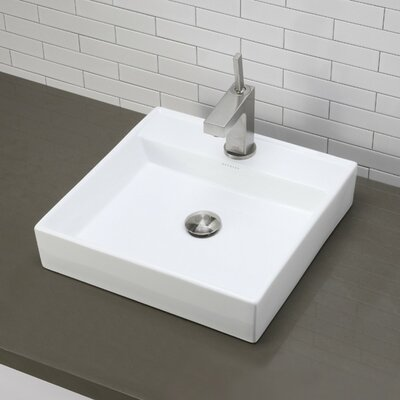 Classically Redefined Square Vessel Bathroom Sink Product Photo