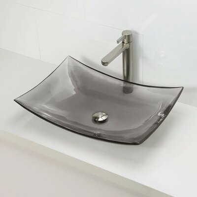 Incandescence Rectangular Vessel Bathroom Sink Product Photo