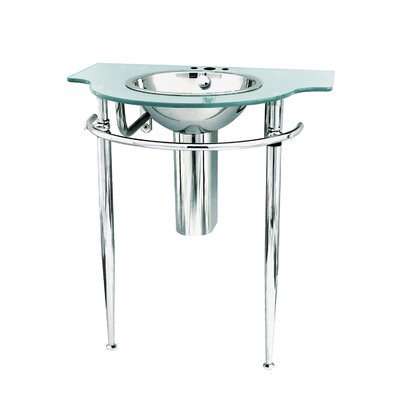 Wall Mount Pedestal Sink : DECOLAV Pedestal Wall Mounted Console with Bathroom Sink & Reviews ...