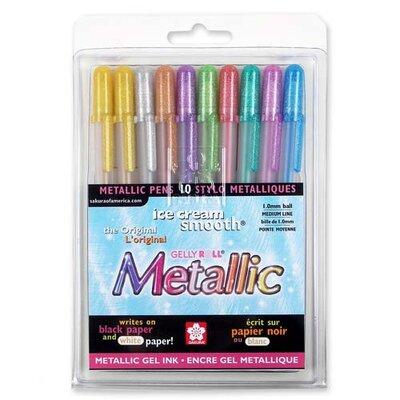 Sakura of America Gel Pen,Water/Fade Proof,1.0mm,Med. Line,Metallic Gold