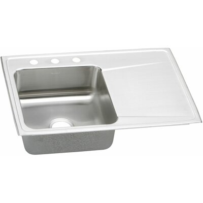 "Elkay Gourmet 33"" x 22"" Left Side Kitchen Sink"
