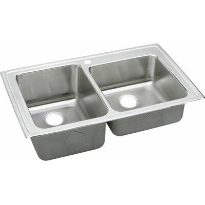 """Elkay Gourmet 37"""" x 22"""" Lustertone Kitchen Sink"""