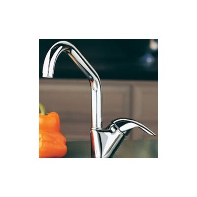 Elkay Allure Single Handle Deck Mount Kitchen Faucet with Lever Side Handle