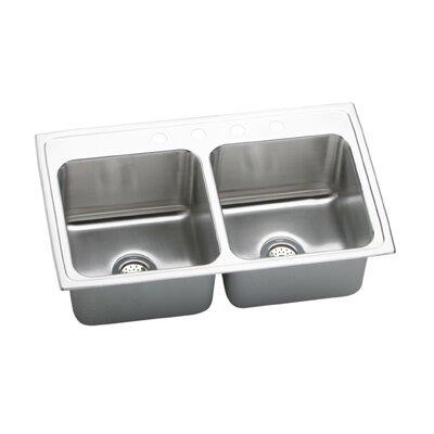 """Elkay Gourmet 33"""" x 19.5"""" Top Mount Kitchen Sink"""