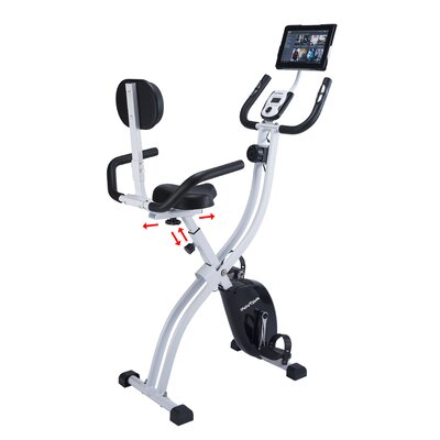 Innova XBR450 Dual Function Folding Upright Bike with Backrest by Innova Fitness
