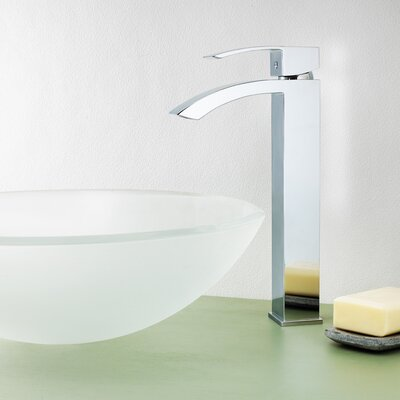 Holt Single Lever Deck Mount Vessel Faucet with Pop-Up Drain Product Photo