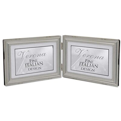 Hinged Double Horizontal Picture Frame with Beading by Lawrence Frames
