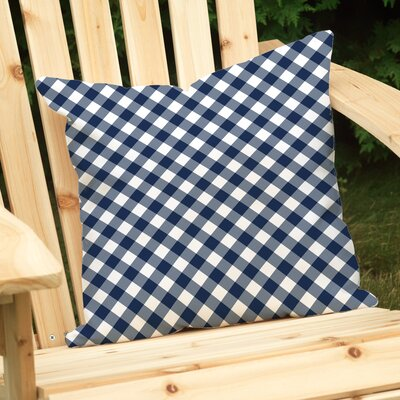 Gingham Outdoor Throw Pillow by Checkerboard