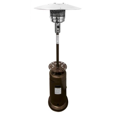 Tall Propane Patio Heater with Table II by AZ Patio Heaters