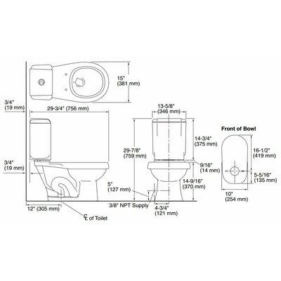 Sterling By Kohler Rockton Dual Flush Round 2 Piece Toilet Reviews Wa