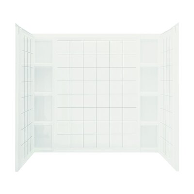"""Sterling by Kohler Ensemble Series 3-Piece 37.5"""" x 60"""" x 54.25""""  Wall Set with Age-In-Place Backers with Left-Hand Drain"""