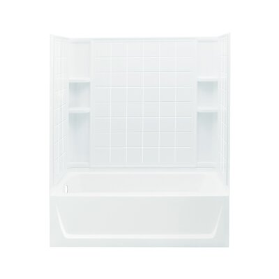 """Ensemble 32"""" AFD Bath/Shower Kit with Age-in-Place Backers and with Left Hand Drain Product Photo"""