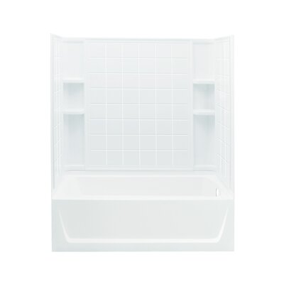 "Ensemble 32"" Bath/Shower Kit with Right Hand Drain Product Photo"