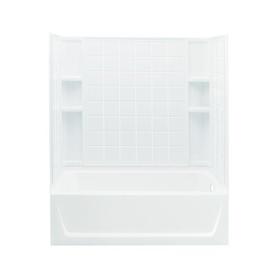 """Sterling by Kohler Ensemble 32"""" AFD Bath/Shower Kit with Right Hand Drain"""
