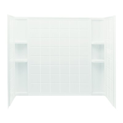 """Ensemble 3-Piece 30"""" x 60"""" x 55.25"""" Sereis 7112 Wall Set with Age-In-Place Backers Product Photo"""
