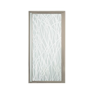"Vista Pivot II 65.5"" x 31.25"" Pivot Shower Door with Tangle Glass Product Photo"