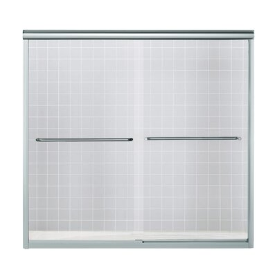 """Finesse 58.75"""" x 59.25"""" Sliding Bath Door with Quick Install Mounting System Product Photo"""