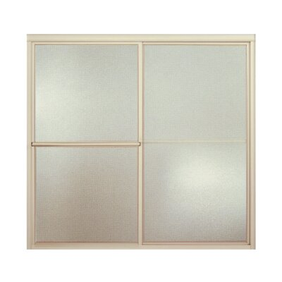 "Deluxe 56.25"" x 59.38"" Sliding Bath Door with Pebbled Glass Product Photo"
