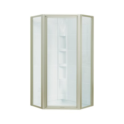 "Intrigue 72"" x 27.56"" Neo-Angle Shower Door with Smooth Clear Glass Product Photo"