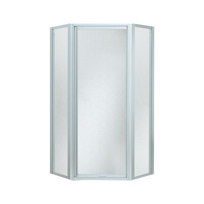 """Intrigue 72"""" x 27.56"""" Neo-Angle Shower Door with Moraine Glass Product Photo"""