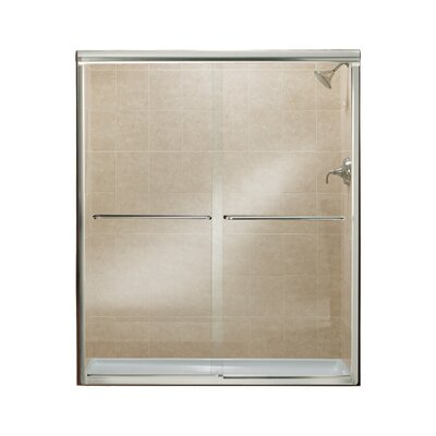 "Finesse 70.06"" x 57"" Sliding Frameless Shower Door Product Photo"
