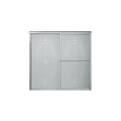 """Deluxe 56.25"""" x 59.38"""" Sliding Patterned Bath Door Right to Left Open Product Photo"""