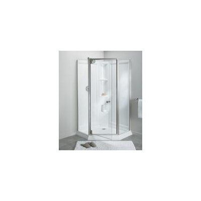 """Solitaire 78.25"""" x 29.44"""" x 29.44"""" Neo-Angle Shower Kit Product Photo"""
