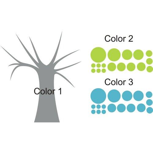 Polka dot candy tree wall decal wayfair for Alphabet garden designs