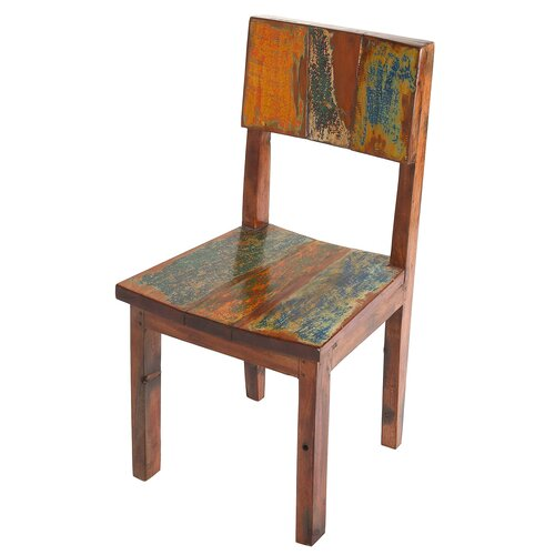 PoliVaz Reclaimed Boat Wood Side Dining Chair Reviews Wayfair