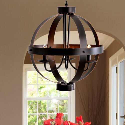 Orb Chandelier Light 14 Atomic Light Fixture Industrial: Catalina Lighting 3 Light Candle Chandelier & Reviews