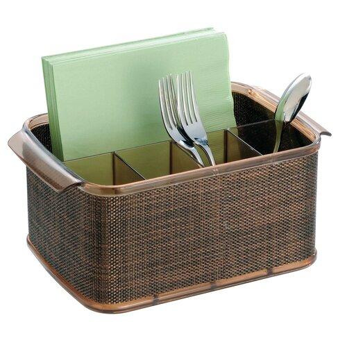 Interdesign Twillo Flateware Caddy Organizer For Kitchen Countertop Storage Dining Table