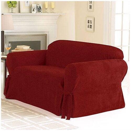 sure fit soft suede sofa slipcover reviews wayfair. Black Bedroom Furniture Sets. Home Design Ideas