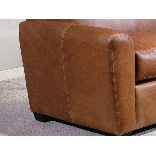 Omnia Furniture Jackson Leather Sofa Reviews Wayfair