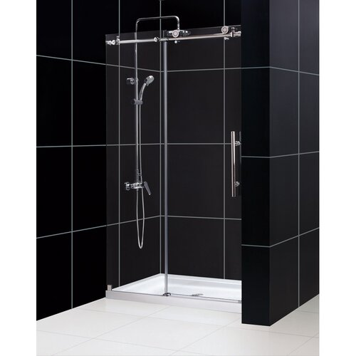 44 To 48 Fully Frameless Sliding Shower Door Clear 3 8 Glass