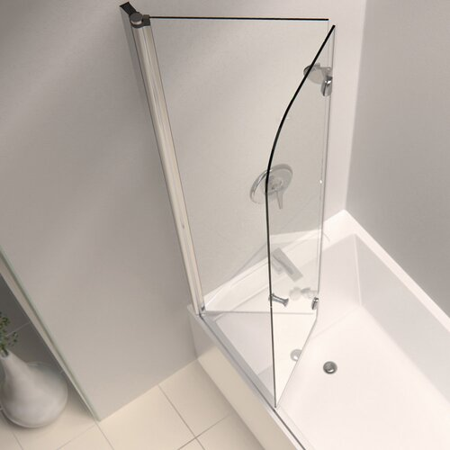 Aquafold 58 x 36 pivot hinged tub door with hardware for Bathtub shower doors hardware